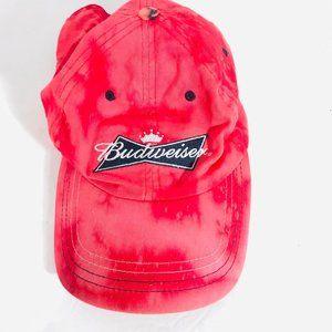 Budweiser x Custom Tie Dye Cap Hat Acid Wash OOAK